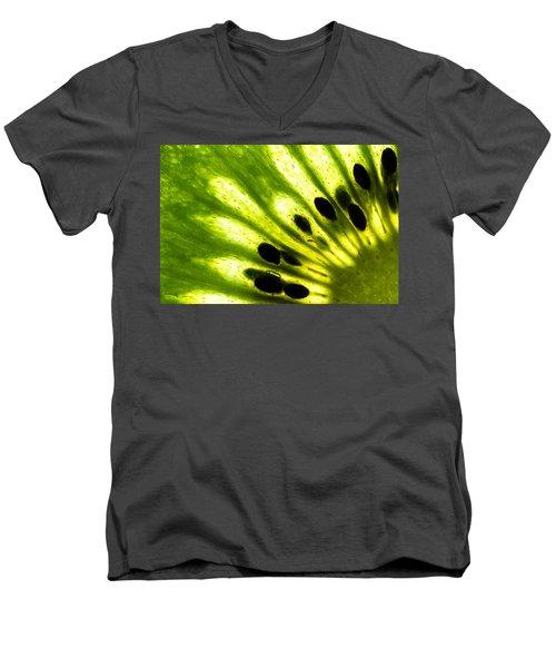 Kiwi Men's V-Neck T-Shirt by Gert Lavsen