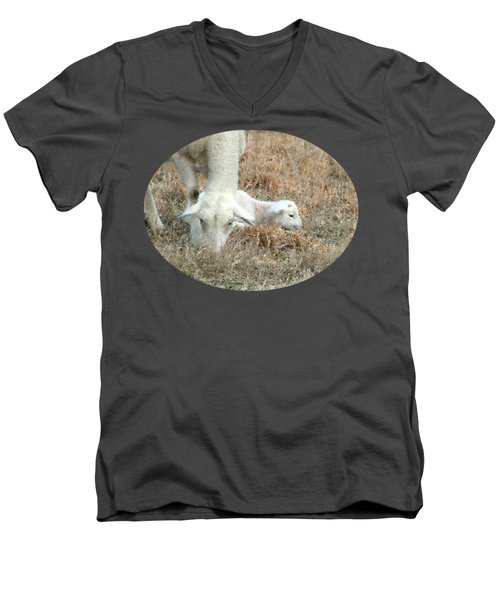 L Is For Lamb Men's V-Neck T-Shirt by Anita Faye