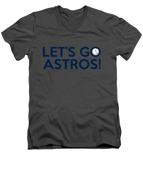 Let's Go Astros Men's V-Neck T-Shirt by Florian Rodarte