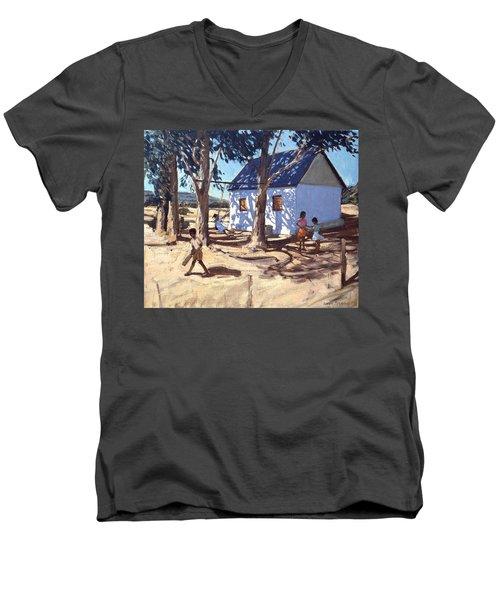 Little White House Karoo South Africa Men's V-Neck T-Shirt by Andrew Macara