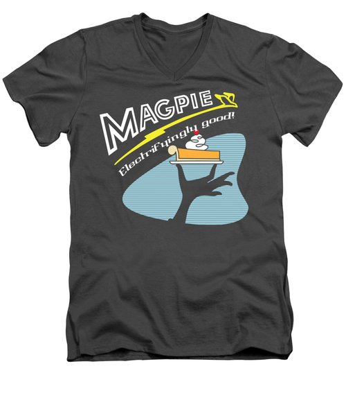 Mag Pies Men's V-Neck T-Shirt by Luis Pangilinan
