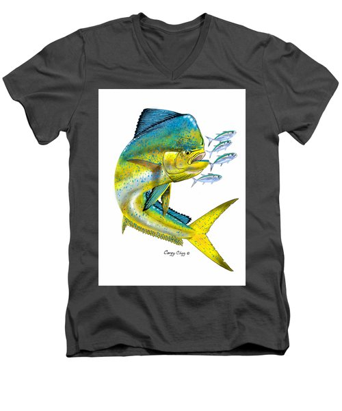 Mahi Digital Men's V-Neck T-Shirt by Carey Chen