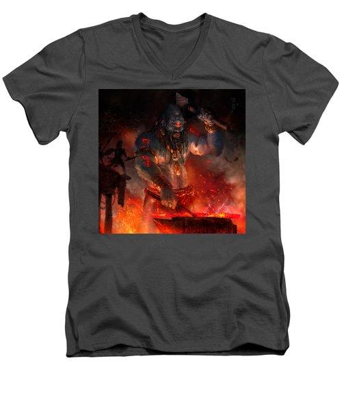 Maker Of The World Men's V-Neck T-Shirt by Ryan Barger
