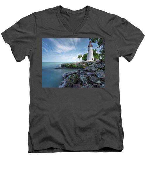 Marblehead Breeze Men's V-Neck T-Shirt by James Dean