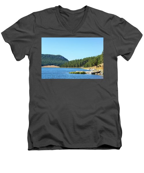 Meadowlark Lake View Men's V-Neck T-Shirt by Jess Kraft