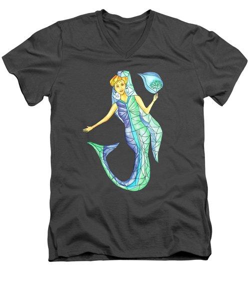 Mermaid Stories B Men's V-Neck T-Shirt by Thecla Correya