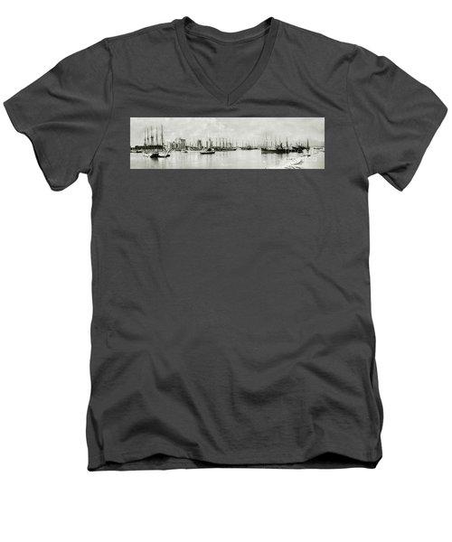 Miami, Florida Circa 1925  Men's V-Neck T-Shirt by Jon Neidert