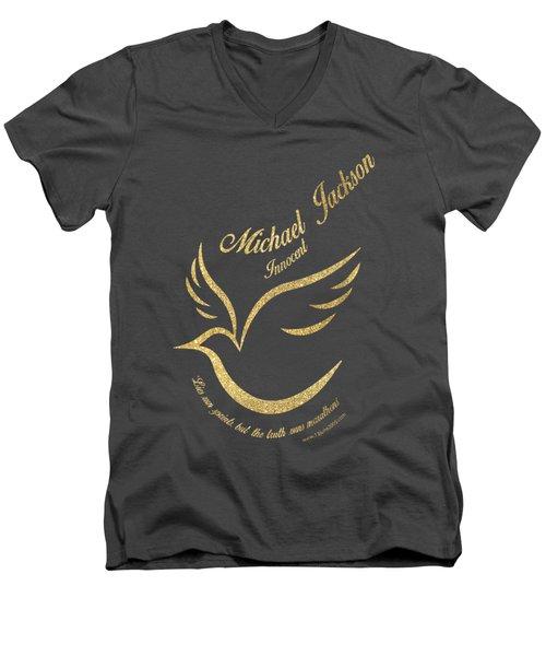 Michael Jackson Golden Dove Men's V-Neck T-Shirt by D Francis