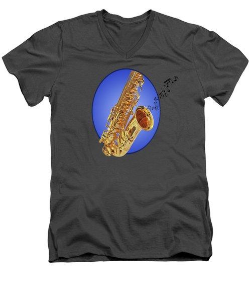 Midnight Blues Men's V-Neck T-Shirt by Gill Billington