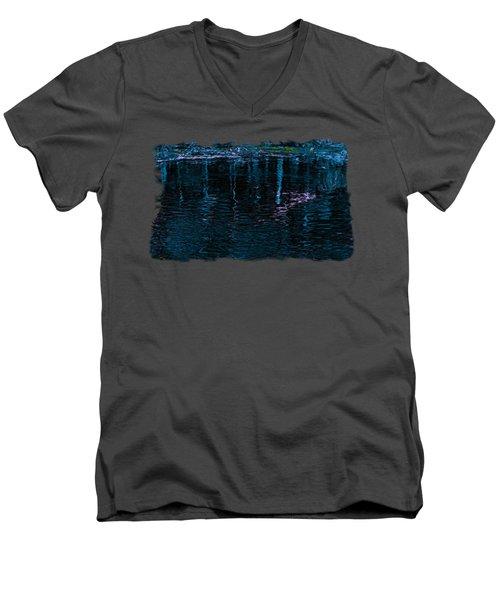 Midnight Spring Men's V-Neck T-Shirt by John M Bailey