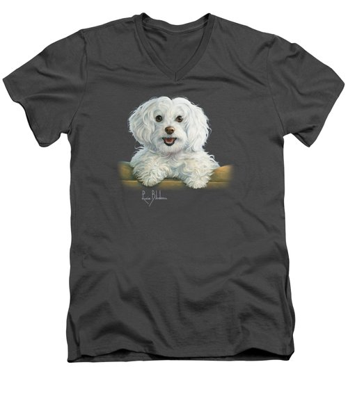 Mimi Men's V-Neck T-Shirt by Lucie Bilodeau