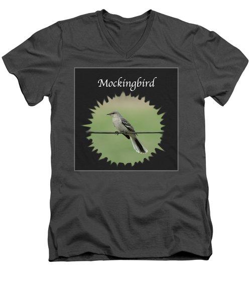 Mockingbird      Men's V-Neck T-Shirt by Jan M Holden