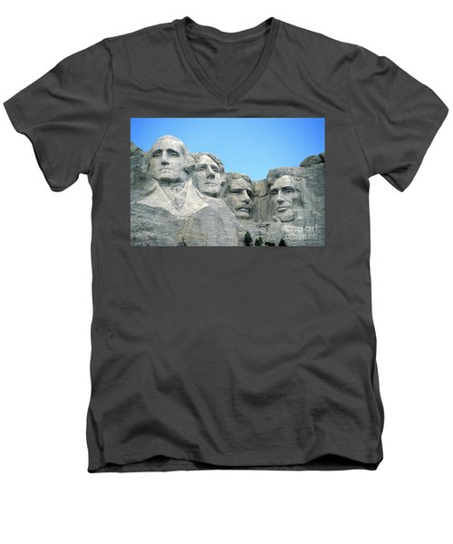 Mount Rushmore Men's V-Neck T-Shirt by American School