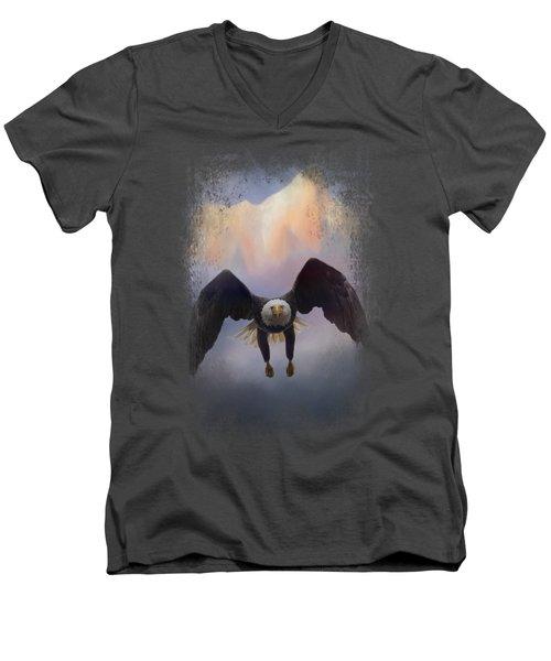 Mountain Flight Men's V-Neck T-Shirt by Jai Johnson