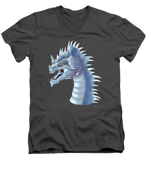 Mystical Ice Dragon Men's V-Neck T-Shirt by Glenn Holbrook