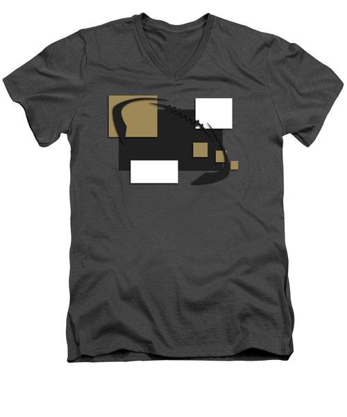 New Orleans Saints Abstract Shirt Men's V-Neck T-Shirt by Joe Hamilton