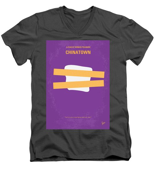 No015 My Chinatown Minimal Movie Poster Men's V-Neck T-Shirt by Chungkong Art
