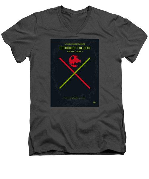 No156 My Star Wars Episode Vi Return Of The Jedi Minimal Movie Poster Men's V-Neck T-Shirt by Chungkong Art