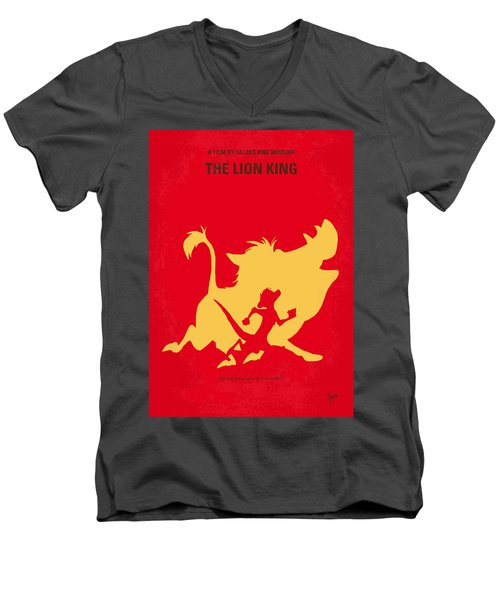 No512 My The Lion King Minimal Movie Poster Men's V-Neck T-Shirt by Chungkong Art