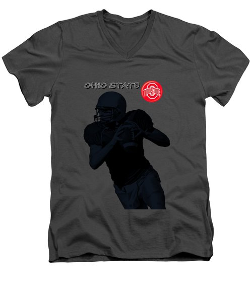 Ohio State Football Men's V-Neck T-Shirt by David Dehner