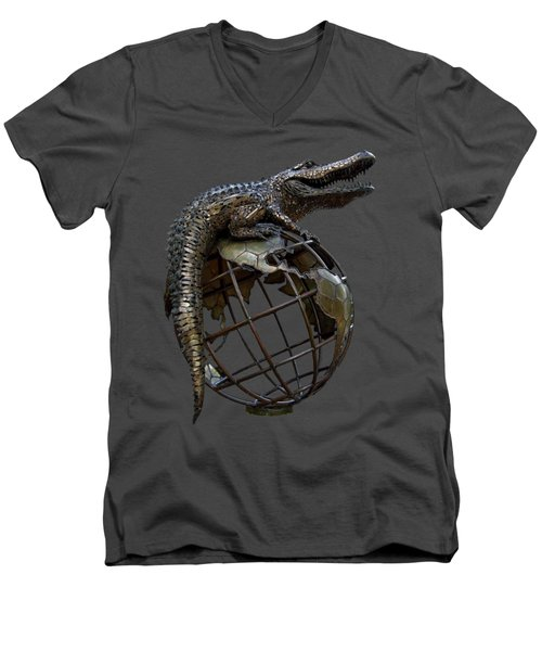On Top Of The World Transparent For T Shirts Men's V-Neck T-Shirt by D Hackett