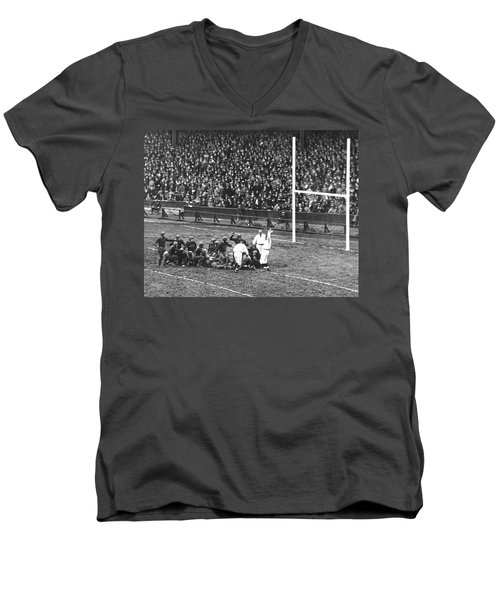 One For The Gipper Men's V-Neck T-Shirt by Underwood Archives