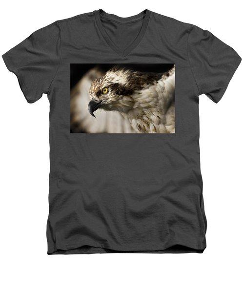 Osprey Men's V-Neck T-Shirt by Adam Romanowicz
