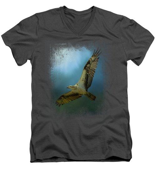 Osprey In The Evening Light Men's V-Neck T-Shirt by Jai Johnson