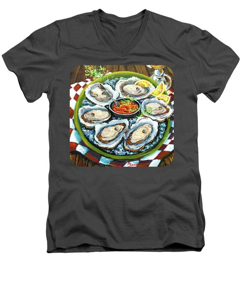 Oysters On The Half Shell Men's V-Neck T-Shirt by Dianne Parks