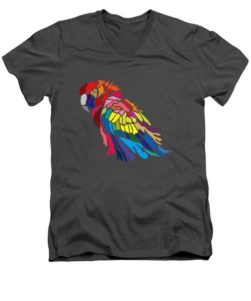 Parrot Beauty Men's V-Neck T-Shirt by Anthony Mwangi