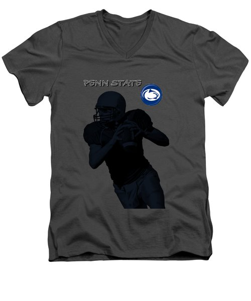 Penn State Football Men's V-Neck T-Shirt by David Dehner