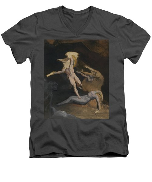 Perseus Slaying The Medusa Men's V-Neck T-Shirt by Henry Fuseli