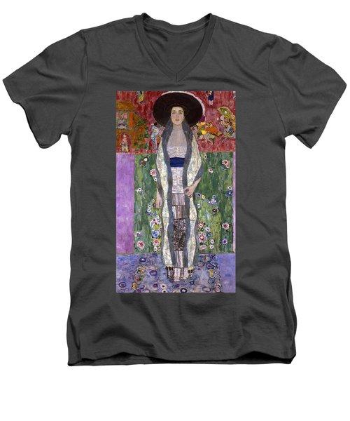 Portrait Of Adele Bloch-bauer II Men's V-Neck T-Shirt by Gustav Klimt