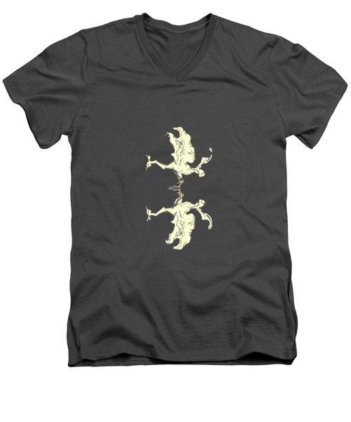 Poulia Men's V-Neck T-Shirt by Julio Lopez