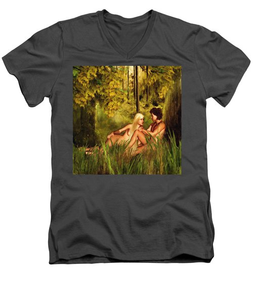 Pre-consciousness Men's V-Neck T-Shirt by Lourry Legarde