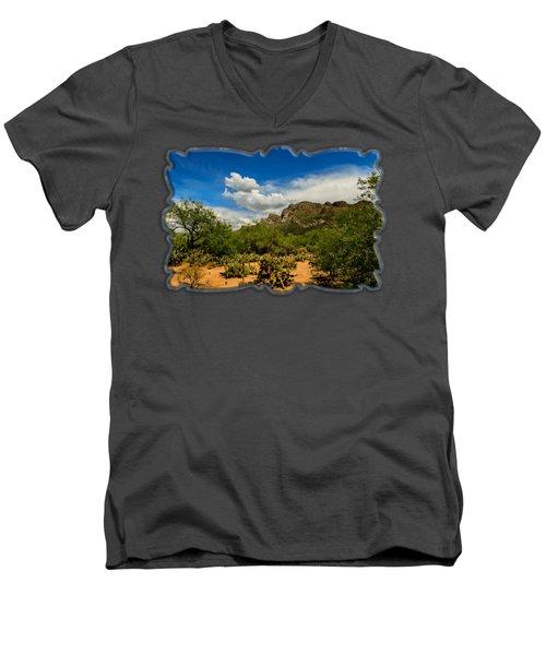 Pusch Ridge Vista H14 Men's V-Neck T-Shirt by Mark Myhaver