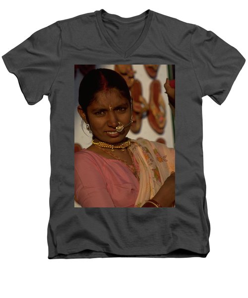 Men's V-Neck T-Shirt featuring the photograph Rajasthan by Travel Pics