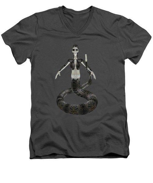 Rattlesnake Alien World Men's V-Neck T-Shirt by EnDora TwinkLens