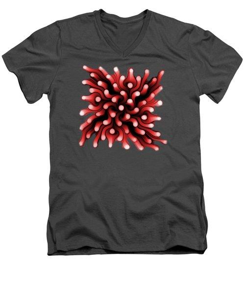Red Sea Anemone Men's V-Neck T-Shirt by Anastasiya Malakhova