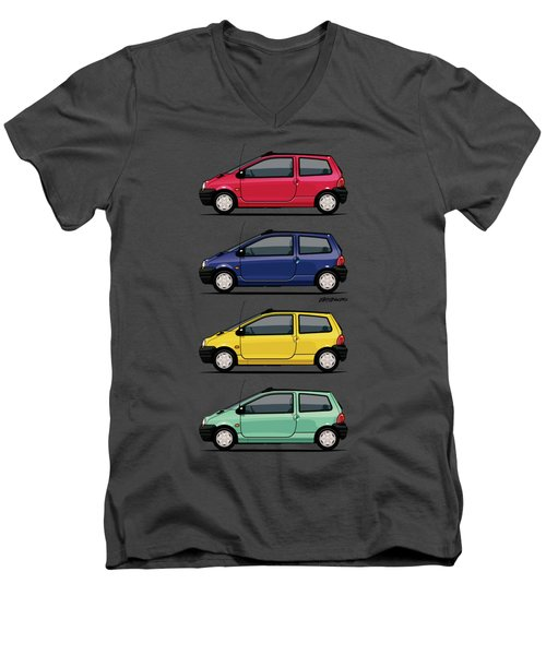 Renault Twingo 90s Colors Quartet Men's V-Neck T-Shirt by Monkey Crisis On Mars