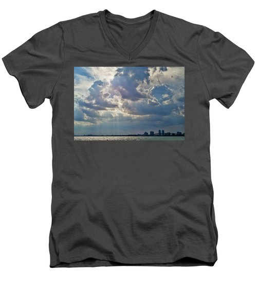 Riding In The Storm Men's V-Neck T-Shirt by Camille Lopez
