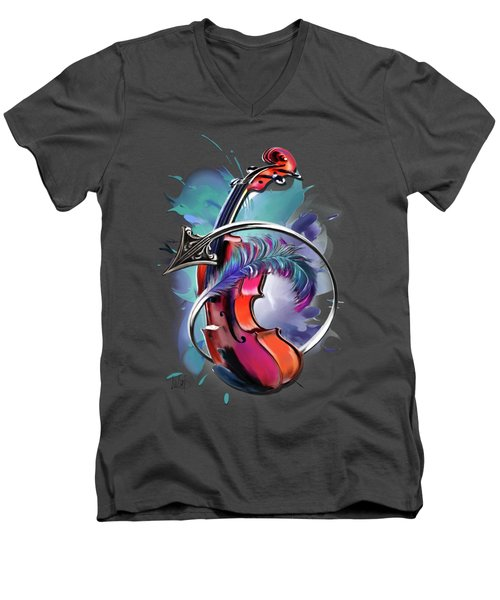 Sagittarius Men's V-Neck T-Shirt by Melanie D