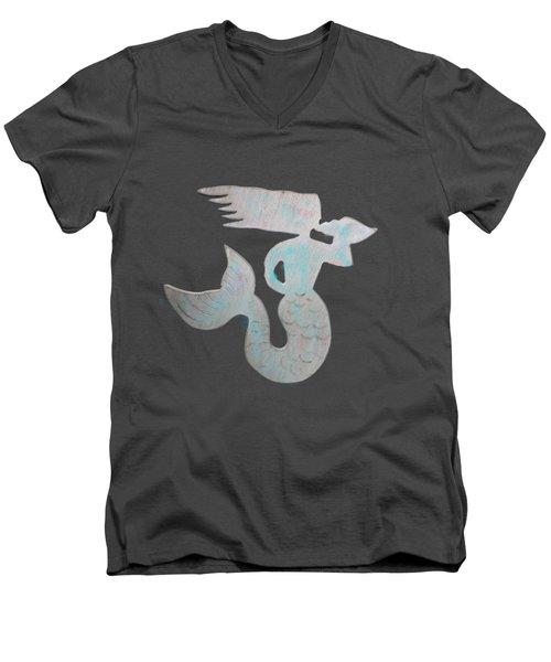 Sea Shell Mermaid Men's V-Neck T-Shirt by Dale Powell