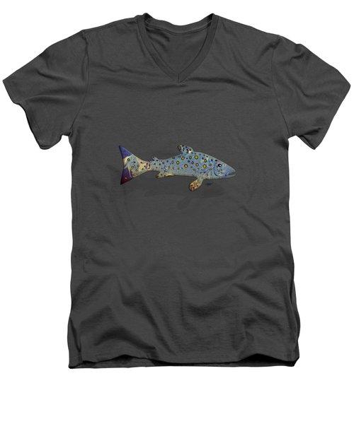 Sea Trout Men's V-Neck T-Shirt by Mikael Jenei