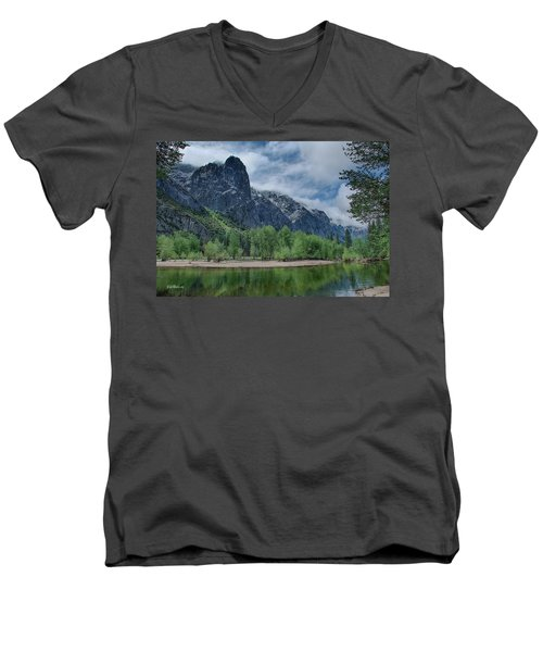 Sentinel Rock After The Storm Men's V-Neck T-Shirt by Bill Roberts