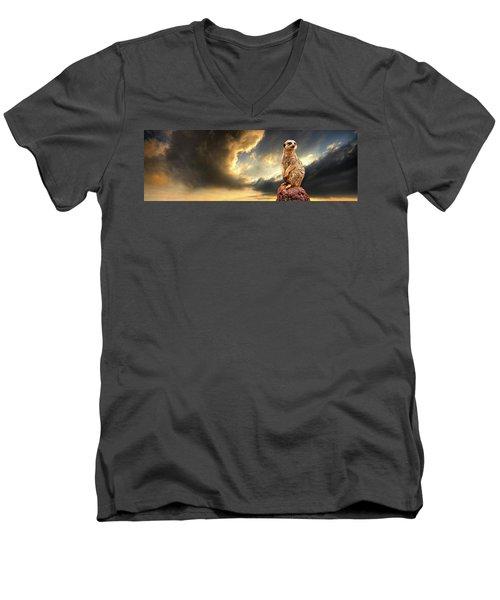 Sentry Duty Men's V-Neck T-Shirt by Meirion Matthias