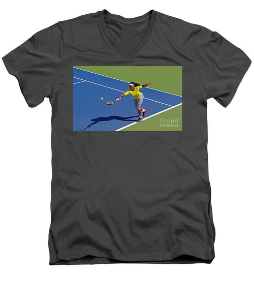 Serena Williams 1 Men's V-Neck T-Shirt by Nishanth Gopinathan