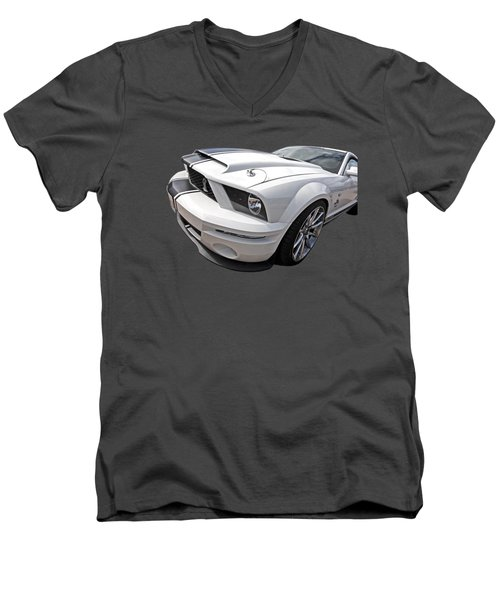 Sexy Super Snake Men's V-Neck T-Shirt by Gill Billington