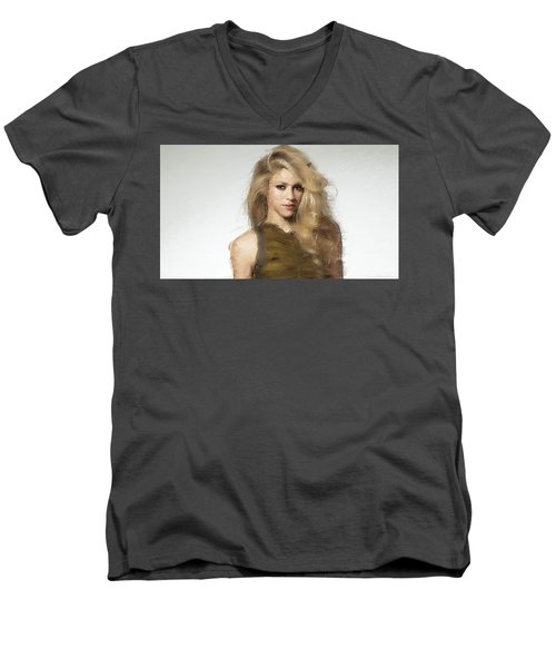 Shakira Men's V-Neck T-Shirt by Iguanna Espinosa