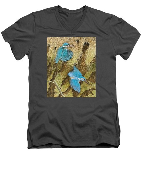 Sharing The Caring Men's V-Neck T-Shirt by Pat Scott